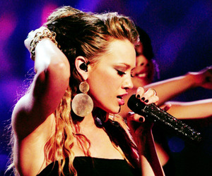Hilary Duff and microphone image