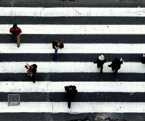 people, street, and black image