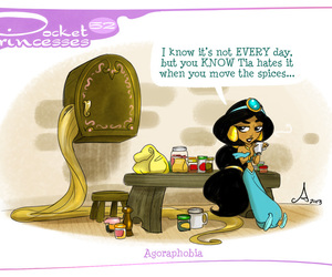 pocket princesses, jasmine, and rapunzel image