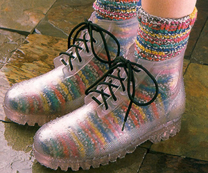 colourful, socks, and shoes image