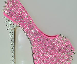 pink, heels, and spikes image