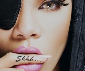 rihanna, shhh, and tattoo image