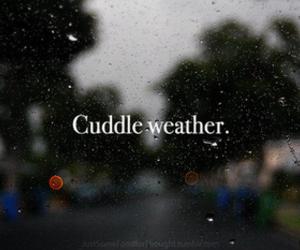 cuddle, rain, and weather image