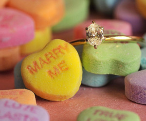 heart, ring, and cute image