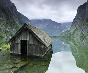 nature, lake, and house image