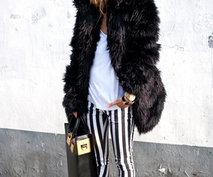 accessories, brunette, and coat image