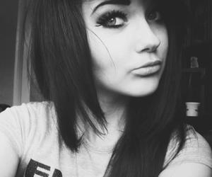 black and white, girl, and cute image