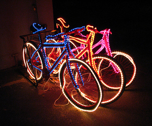 light, bike, and bicycle image