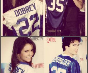 ian somerhalder, Nina Dobrev, and super bowl image