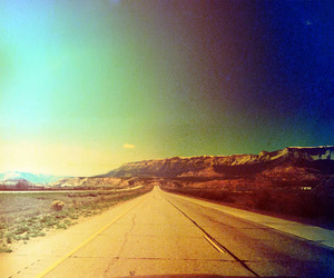 open road, vintage, and love image