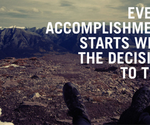 quote, try, and accomplishment image