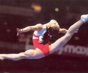 china, gymnast, and leap image