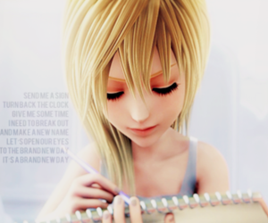 kingdom hearts, typography, and namine image