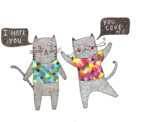 cat, love, and hate image