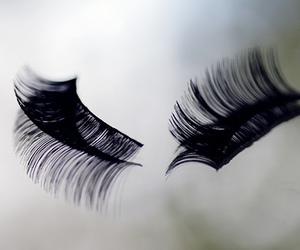 eyelashes, fake, and lashes image