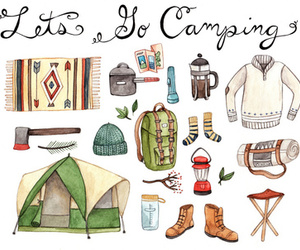 camping, drawing, and illustration image