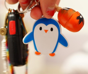 keychain, penguin, and cute image