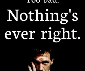 quote, dr house, and house md image