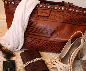 bag, shoes, and gucci image