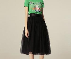 black and puffy skirts image