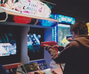 boy, game, and arcade image