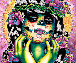 6cb324240 Day of the Dead Pin Up Girl With Sugar Skull by NeverDieArt
