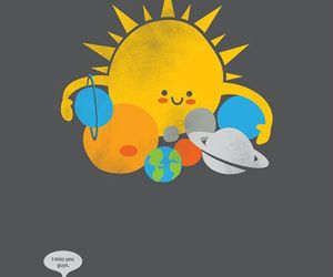 planet, sun, and pluto image