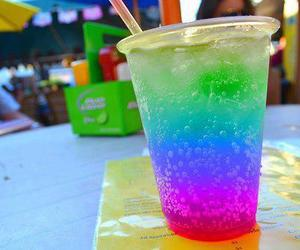 drink, summer, and rainbow image