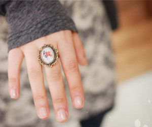 ring, vintage, and hand image