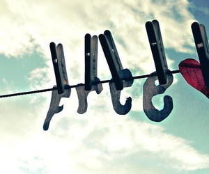 free, heart, and sky image