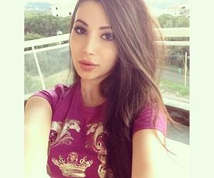 arab, pretty, and lebanese image