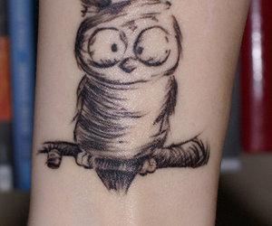 big eyes, tattoo, and cartoon image