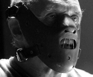 black and white and lecter image