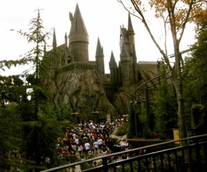 castle, harry potter, and hogwarts image