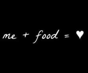 food, love, and me image