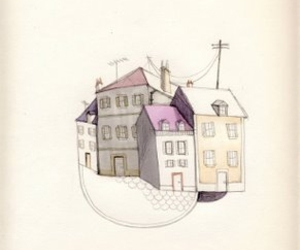 Collage, drawing, and Houses image