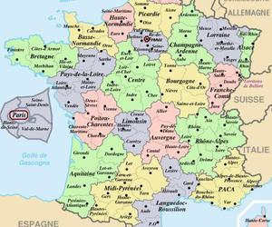 france, political map, and providences image