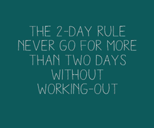 quote, rules, and workout image