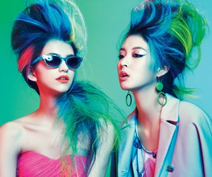 hair, blue, and neon image