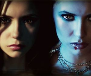 Vampire Diaries, elena gilbert, and katherine pierce image