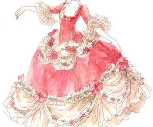 pink, dress, and art image