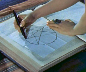 pentacle, magic, and occult image