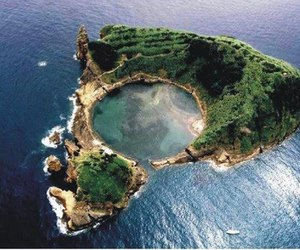 Island, nature, and sea image