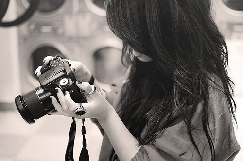 girl with camera photography - Google Search on We Heart It