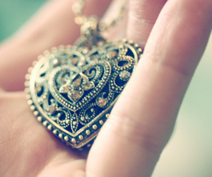heart, hand, and necklace image