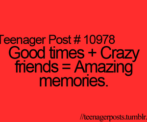 good times, crazy, and memories image