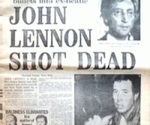 john lennon, newspaper, and the beatles image