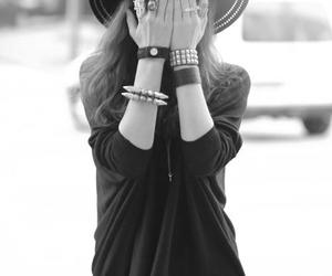 adorable, black and white, and dress image