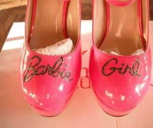 pink, barbie, and heels image
