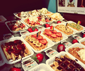 nutella, fruit, and food image